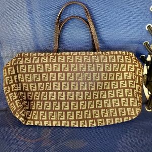 Authentic Fendi Zucca Logo Tote Bag